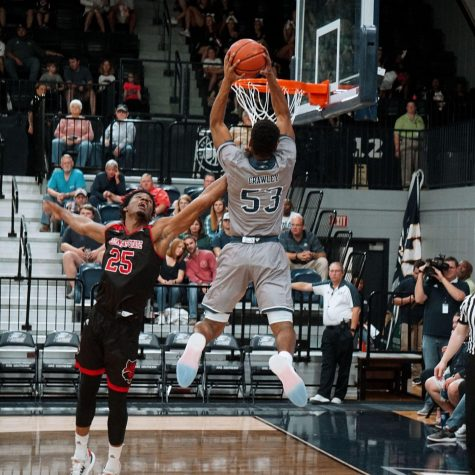 Senior Isaiah Crawley will participate in the dunk contest held at Eagle Madness.