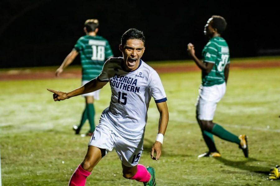 Aldair Cortes (15) had a decorated freshman campaign and has started the season off strong with two goals and seven assists.