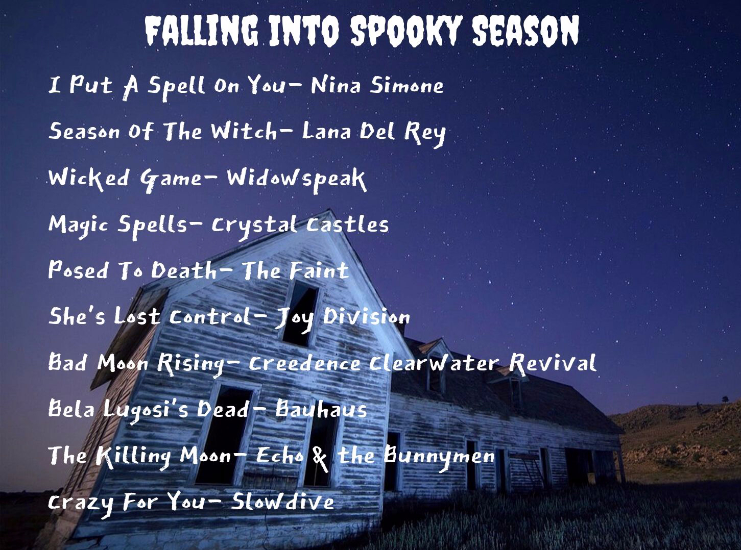Falling Into Spooky Season