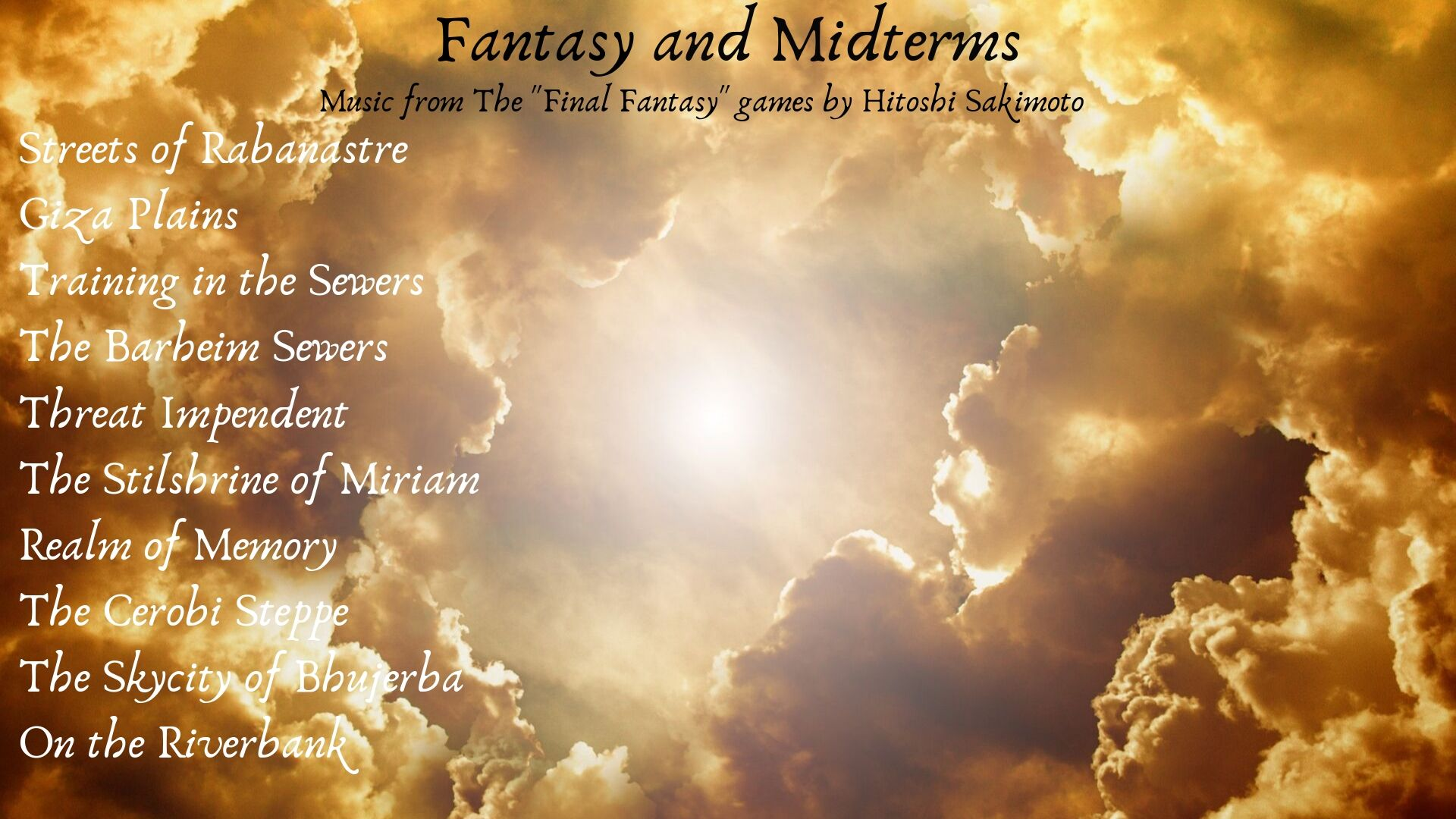 Fantasy and Midterms