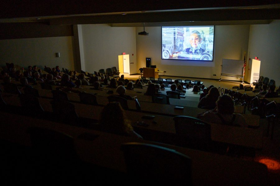The audience watching Our Lost Years. Katherine Arntzen/University Communications and Marketing