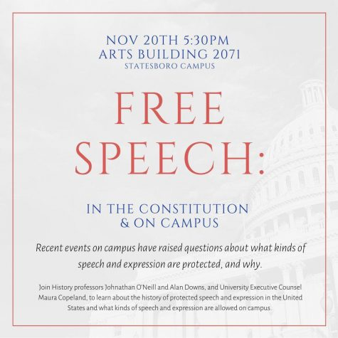 The history department will be holding a talk on free speech in relation to the constitution on Nov. 20.