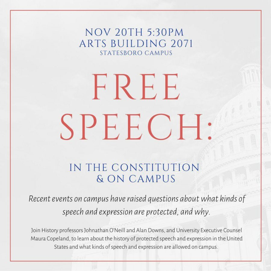 The+history+department+will+be+holding+a+talk+on+free+speech+in+relation+to+the+constitution+on+Nov.+20.%C2%A0