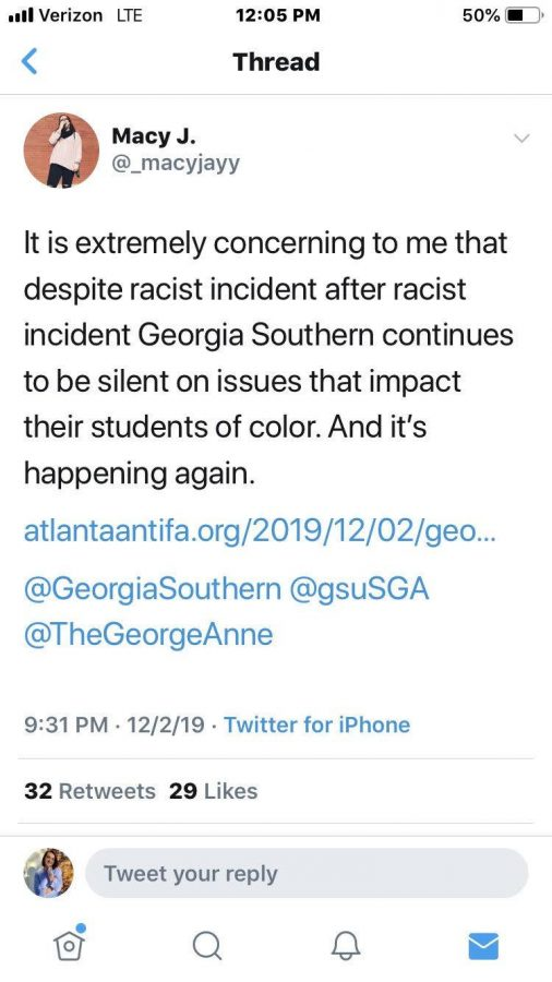Georgia Southern student gives presentation on replacement migration, sparking outrage online