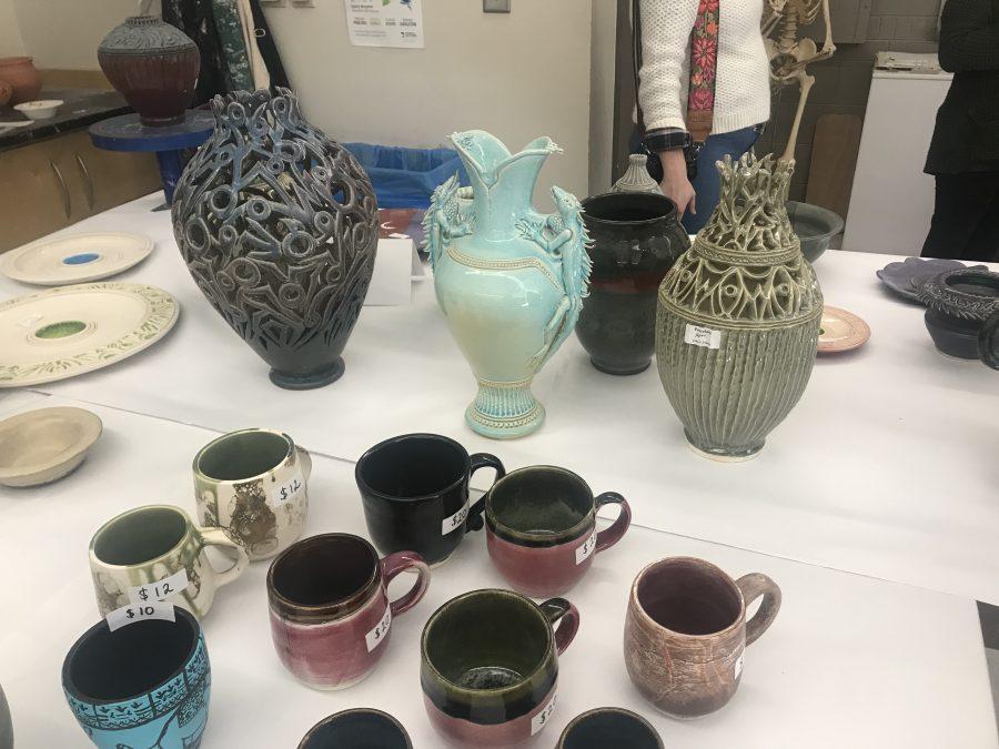 Some of the works by Professor John Jensen. Photo by Rachel Hammond.