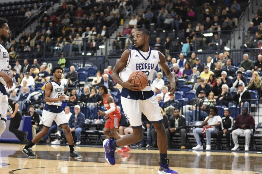 Simeon Carter is a redshirt-senior foward on the Georgia Southern basketball team. He didn't start playing basketball until his junior year of high school.