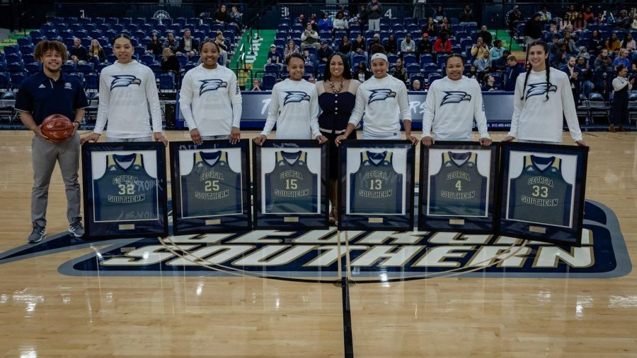 The Georgia Southern women's basketball team celebrated Senior Day in Saturday's game against Appalachian State.