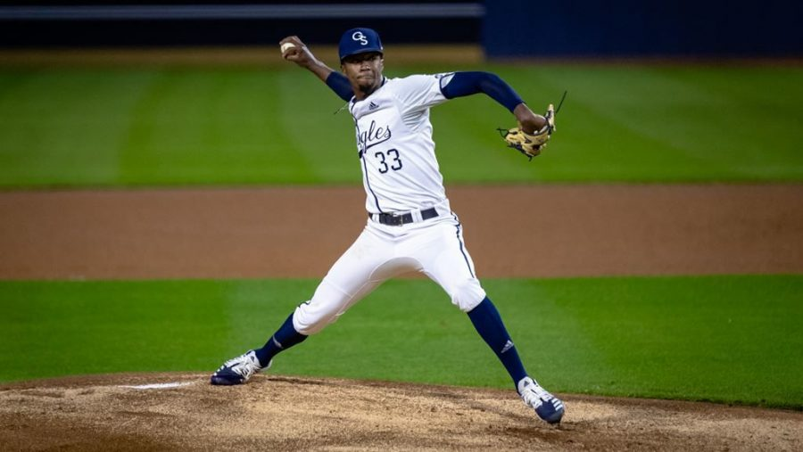 Junior+pitcher+Jordan+Jackson+made+his+Eagles+debut.+Jackson+struck+out+nine+batters+and+only+allowed+three+hits+with+no+runs.%C2%A0