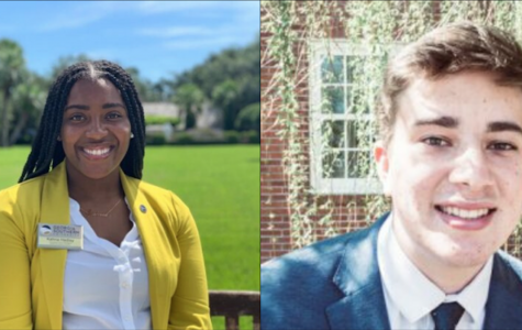 Kahria Hadley (left) and Spencer DeMink (right) are the SGA executive vice presidents of the Statesboro and Armstrong campuses respectively.