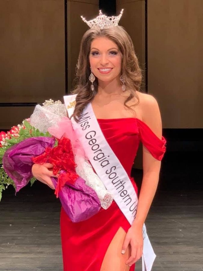 Sarah DeLoach won the title of Miss Georgia Southern University on Saturday. DeLoach is a mathematics and mechanical engineering double major.