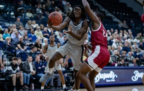 The Georgia Southern men's basketball team plays host to Louisiana for the second round of the Sun Belt Tournament.