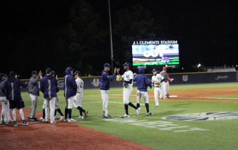 The Georgia Southern baseball team looks to get back on track after getting back to .500 with the win over Radford on Sunday.