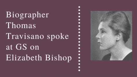 Biographer Thomas Travisano spoke at GS on Elizabeth Bishop