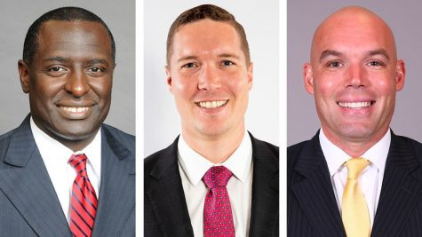 Shawn Forrest (left), Tim MacAllister (middle) and Chris Shumate (right) were announced as the assistants on new Head Coach Brian Burg