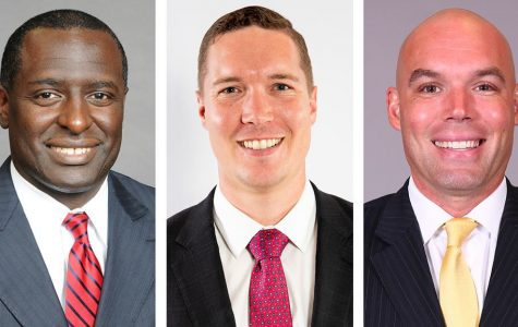 Shawn Forrest (left), Tim MacAllister (middle) and Chris Shumate (right) were announced as the assistants on new Head Coach Brian Burg's staff.