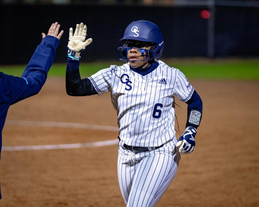 Mekhia Freeman is the first senior on the Georgia Southern softball team to announce that they will use their extra year of eligibility. She was leading the conference in batting average when the season ended.
