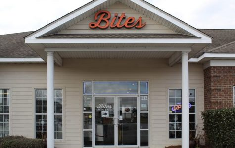 Bites on Brampton is a Statesboro restaurant that sells burgers, tacos, wings and other casual entrees. The restaurant opened in 2015.