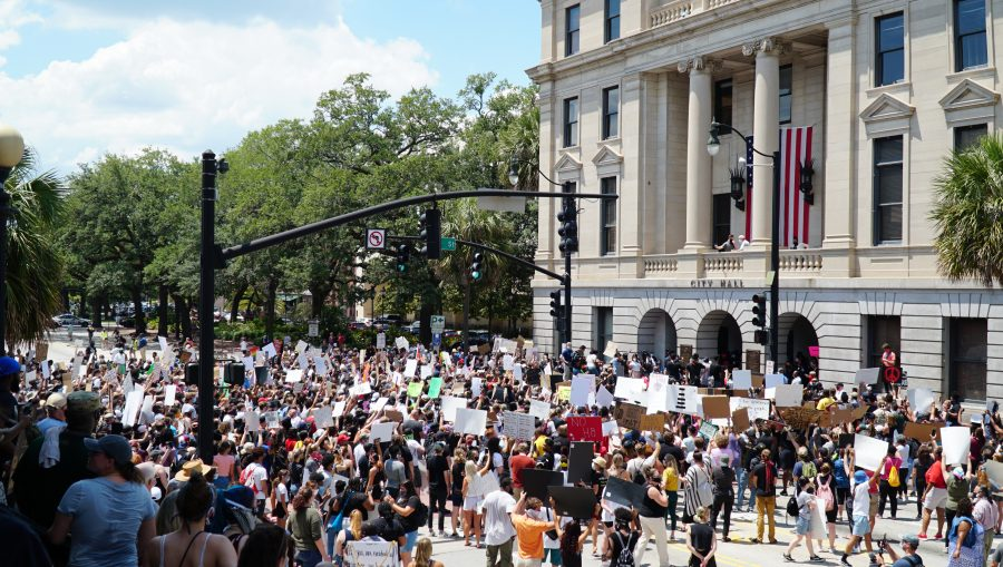 Thousands+Gather+in+Downtown+Savannah+to+Protest+Against+Police+Brutality