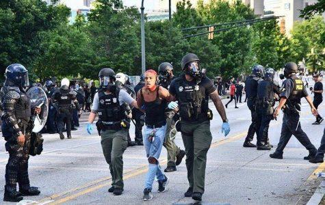 Tahli Viner, an incoming junior psychology major, was taken in zip-tie restraints after protesting in Atlanta.