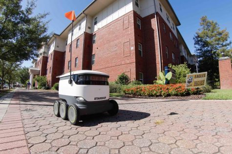 What do students think of the new food delivery robots?