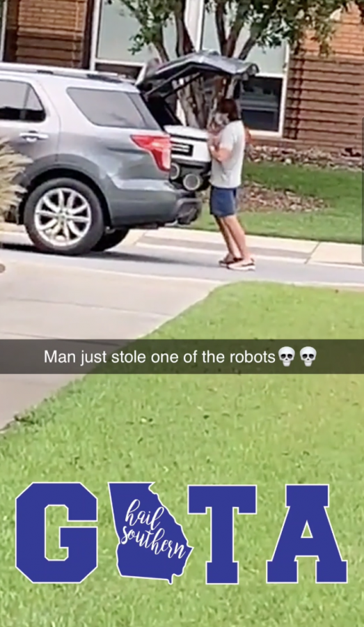 No, this robot is not being stolen.