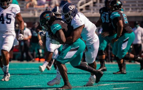 Eagle offense sputters in loss to Chanticleers