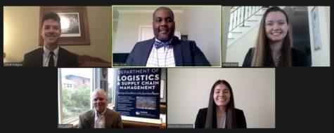 David Hudgins, top left, Marc Scott, Ph.D., Alecia Breen, Jerry Burke, Ph.D., and Ana Ortiz-Contreras.