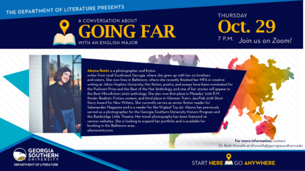 Event Preview: A Conversation About Going Far With English Major Aleyna Rentz