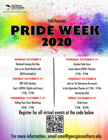 Pride Week at Georgia Southern University is going virtual this year