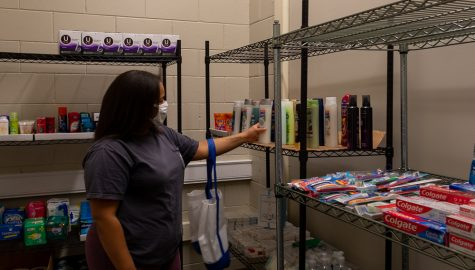 Campus food pantry providing food for students in need