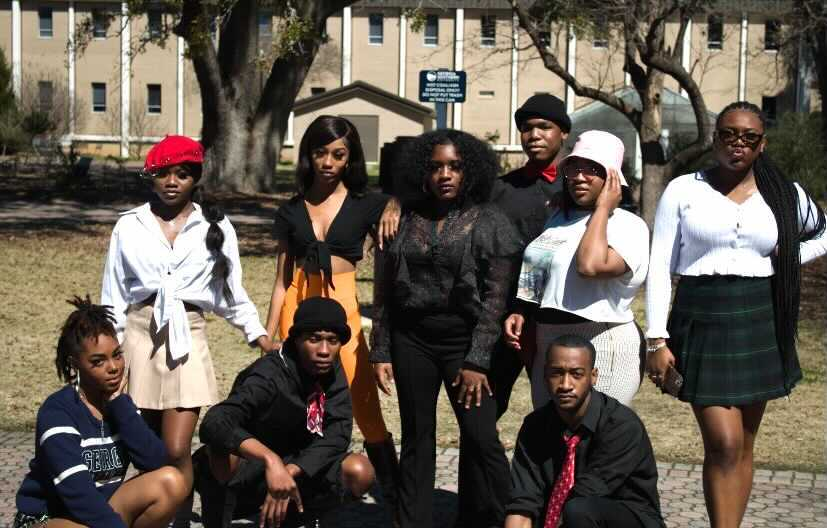 Models from ASA gather outside of the Russel Union to showcase their dancing and modeling skills.