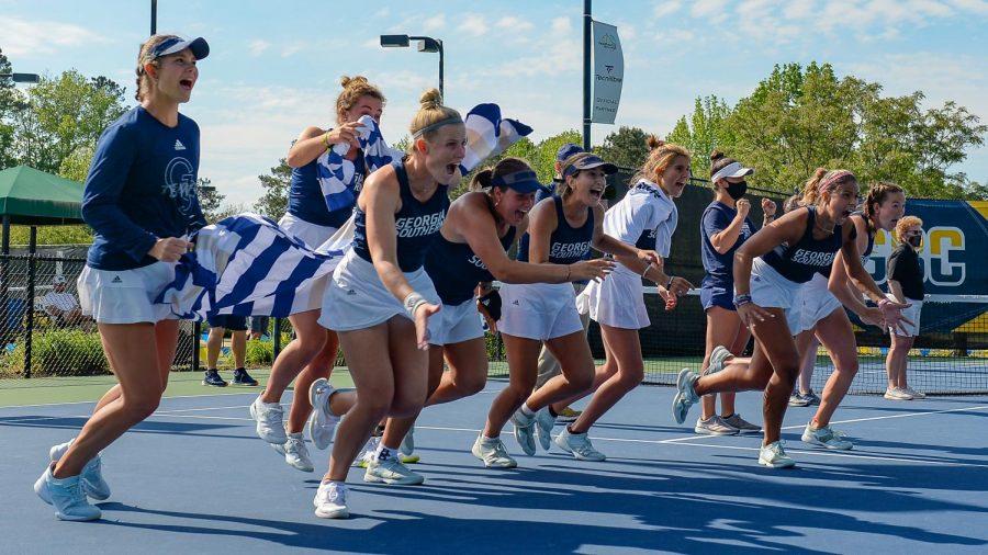 Georgia+Southern+women+set+for+historic+NCAA+Tournament+match