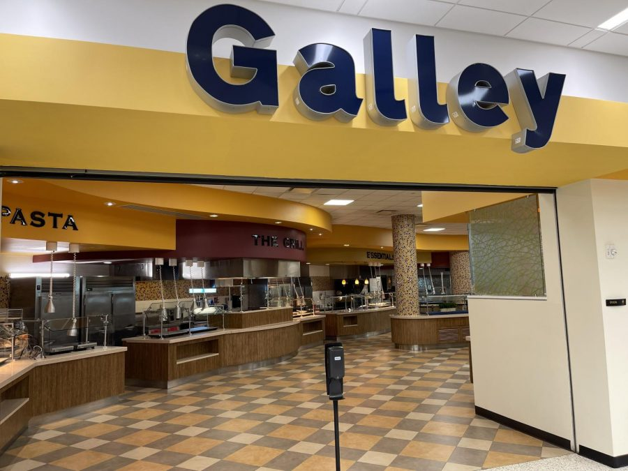 A view of one of the entrances into the buffet portion of the Galley