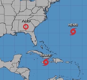 Tropical Depression Fred bringing rain all week