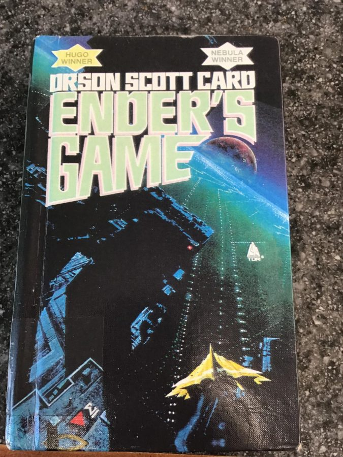 Enders Game by Orson Scott Card in Lane Library