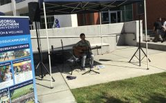 Duncan Sligh playing at the Farmer's Market