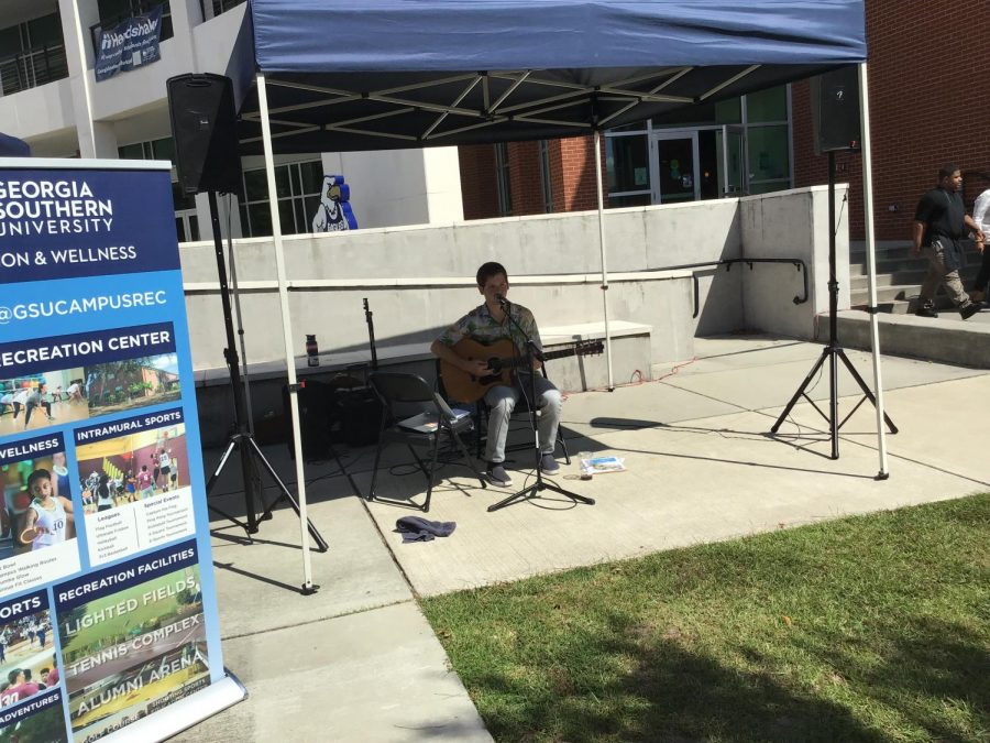 Duncan Sligh playing at the Farmers Market